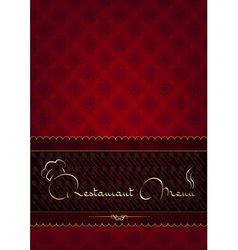 Red abstract restaurant menu cover vector image