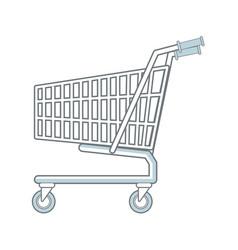shopping cart market store empty buy symbol vector image