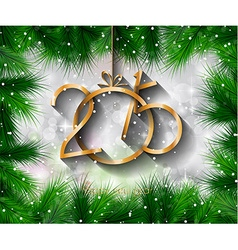 2015 New Year and Happy Christmas background for vector image vector image