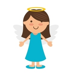 angel girl cartoon vector image