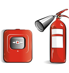 co2 fire extinguisher vector image vector image