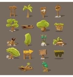 Landscaping Design Set vector image