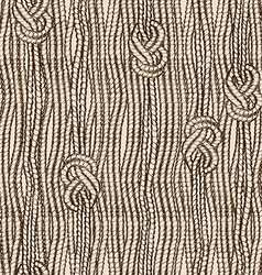 Seamless pattern of ropes with marine knots vector image vector image
