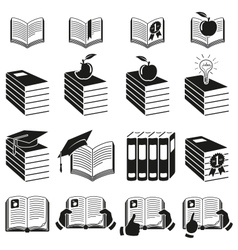 Set of icons of books vector image
