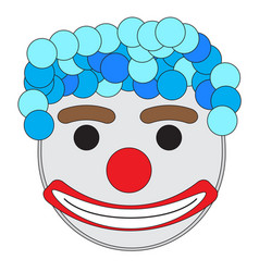 carnival clown mask vector image vector image