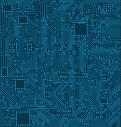 digital circuit background texture of processor vector image