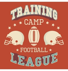 Training camp american football vector image