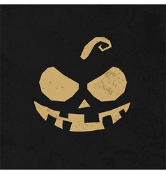 Vintage happy halloween typographical background vector