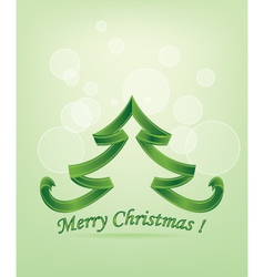 Abstract Green Christmas Tree vector image