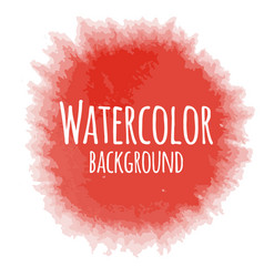 Abstract watercolor background red color isolated vector
