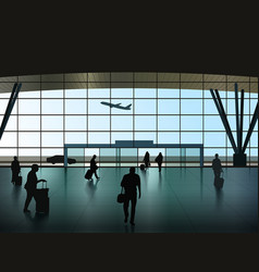 Airport hall vector