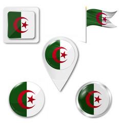 Algeria flag flag flag picture vector
