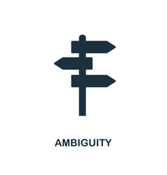 ambiguity icon monochrome style design from big vector image