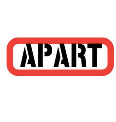 Apart stamp on white vector