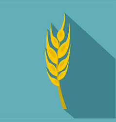 Barley spike icon flat style vector