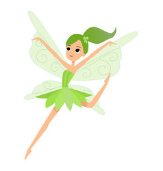 beautiful fairy dances in her colorful outfits and vector image