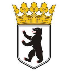 berlin coat arms vector image