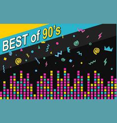 Best 90s retro poster vector