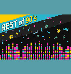 Best of 90s retro poster vector