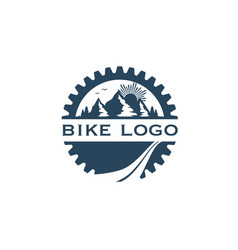 bike-logo2 vector image