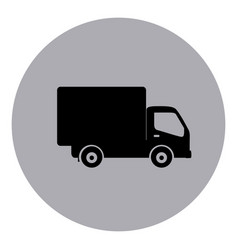 Blue symbol delivery car icon vector