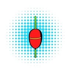 Bobber icon comics style vector image