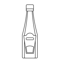 bottle of ketchup or mustard icon outline style vector image vector image