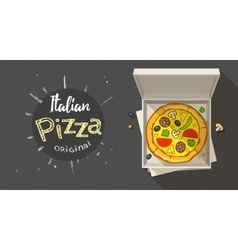 Box with italian pizza vector image