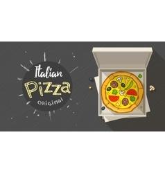 Box with italian pizza vector
