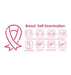Breast self examinationhow to do a self vector