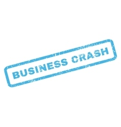 Business Crash Rubber Stamp vector