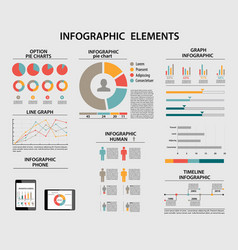 business infographic elements pie charts vector image