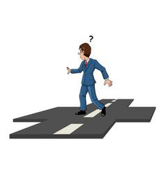 businessman decision vector image