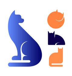 Cat logo icon symbol set vector
