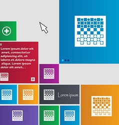 Checkers board icon sign buttons Modern interface vector