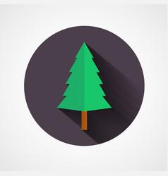 christmas tree icon file vector image