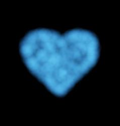 cloud heart blue smoke vector image