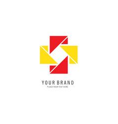 Cross pixel logo vector