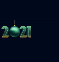 decorative elegant new year 2021 on blue vector image