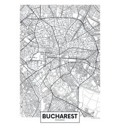 Detailed poster city map bucharest vector