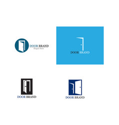 door logo template vector image