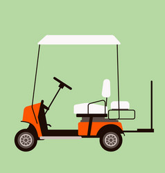 electric golf car flat vector image