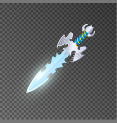 epic dagger isolated game element vector image