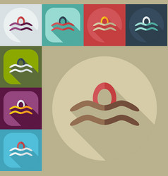 Flat modern design with shadow icons scales vector