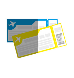 Flight tickets isolated icon vector