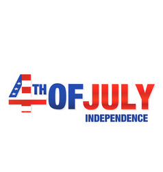 fourth of july independence white background vector image