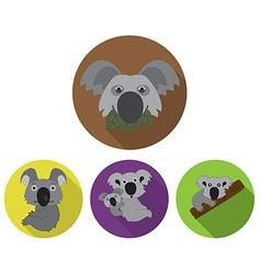 Funny Koala Icons vector