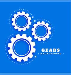 Gears background with rotating arrow direction vector