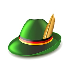 German green hat isolated on white vector image