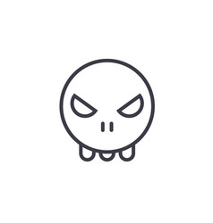 ghost emoji concept line editable concept vector image